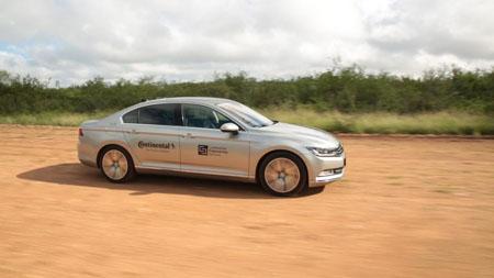 Continental lidera los ensayos de neumáticos con vehículos de pruebas autónomos