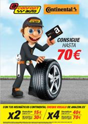 Confortauto y Continental te regalan cheques de hasta 70€ en Amazon