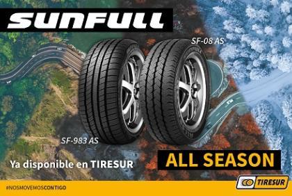 Tiresur amplía su gama de neumáticos con los nuevos modelos all season de SUNFULL